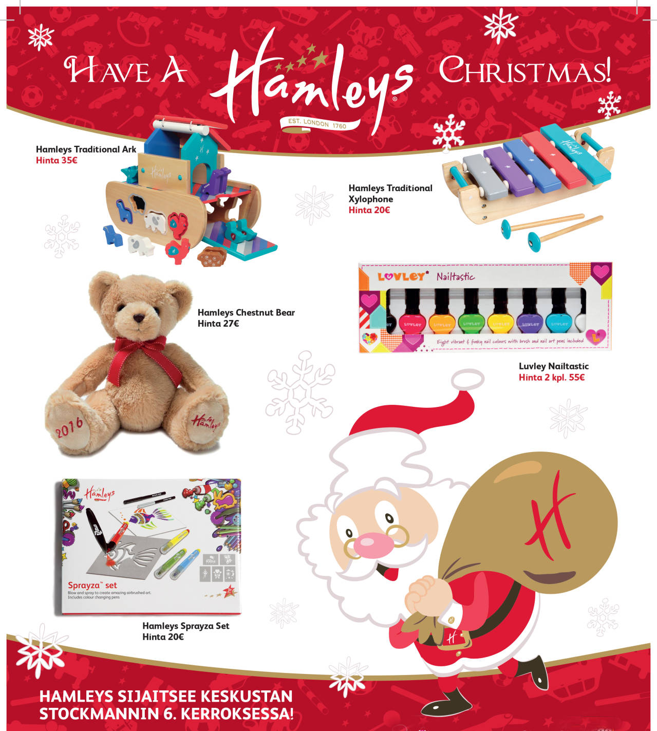 hamleys stocka